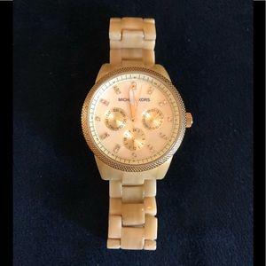 MK  Women's MK5039 Horn Jet Set Chronograph Watch